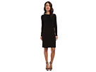 KAMALIKULTURE Go Long Sleeve Crew Neck Dress (Black)