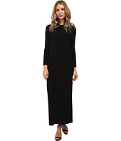 KAMALIKULTURE by Norma Kamali - Go Long Sleeve Crew Neck Maxi