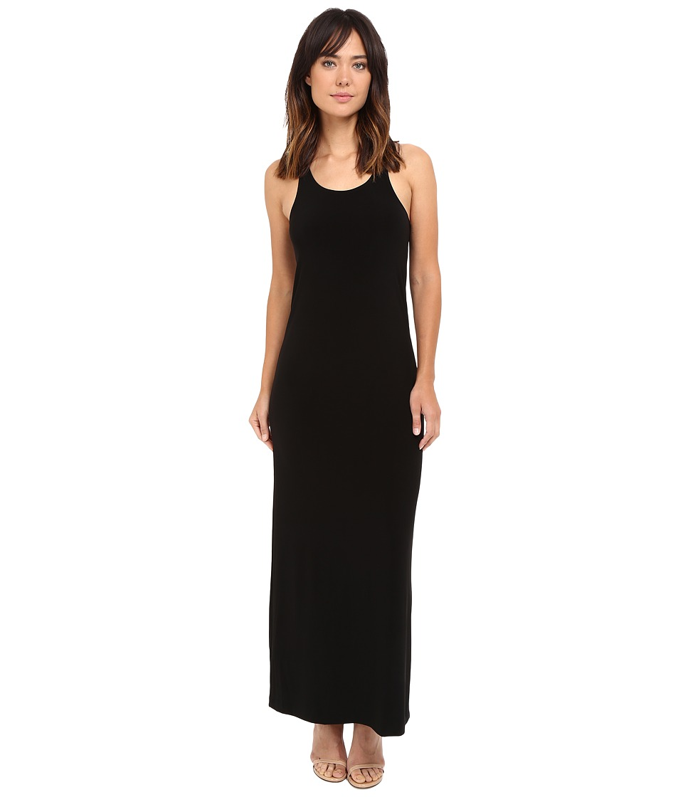 KAMALIKULTURE by Norma Kamali Go Racer Maxi Black Womens Dress