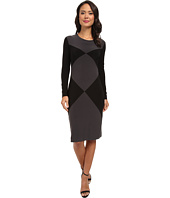 KAMALIKULTURE by Norma Kamali - Double Diamond Sheath Dress