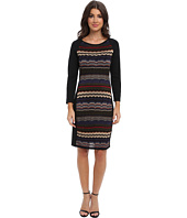 Laundry by Shelli Segal - Multi Stitch Sweater Dress