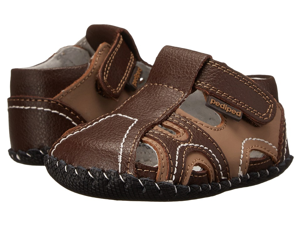 pediped Brody Originals (Infant) (Brown/Tan) Boy's Shoes