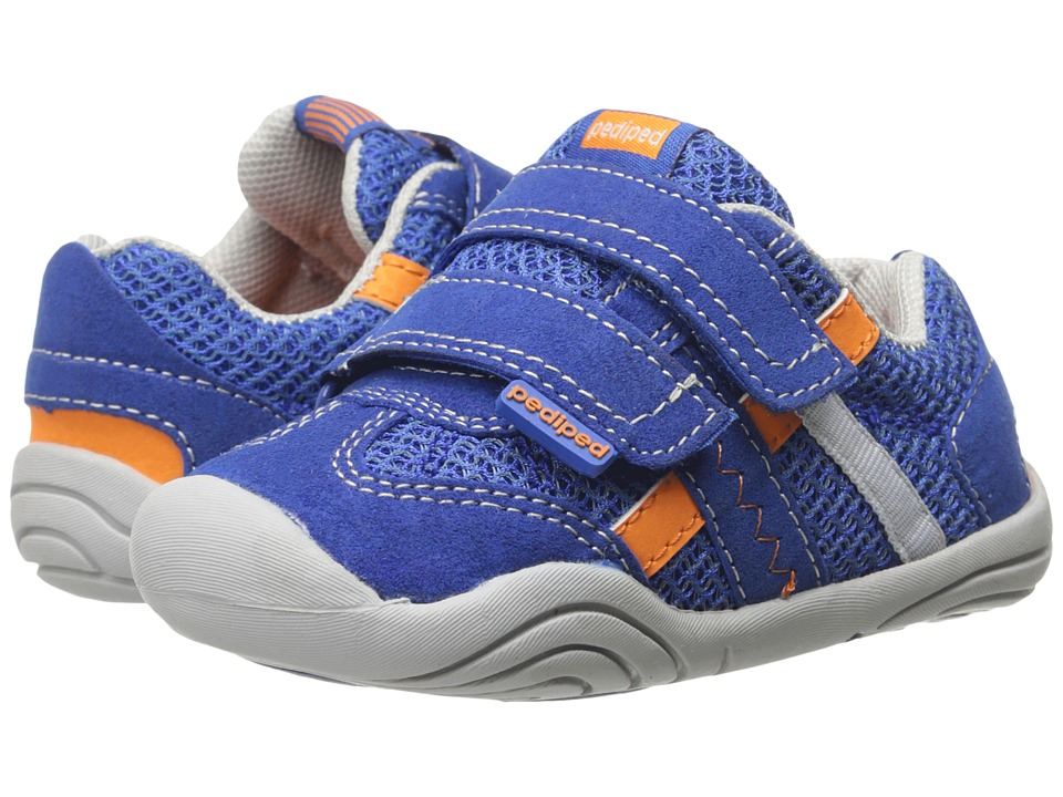 pediped - Gehrig Grip n Go (Infant/Toddler) (Night Blue/Orange) Boys Shoes