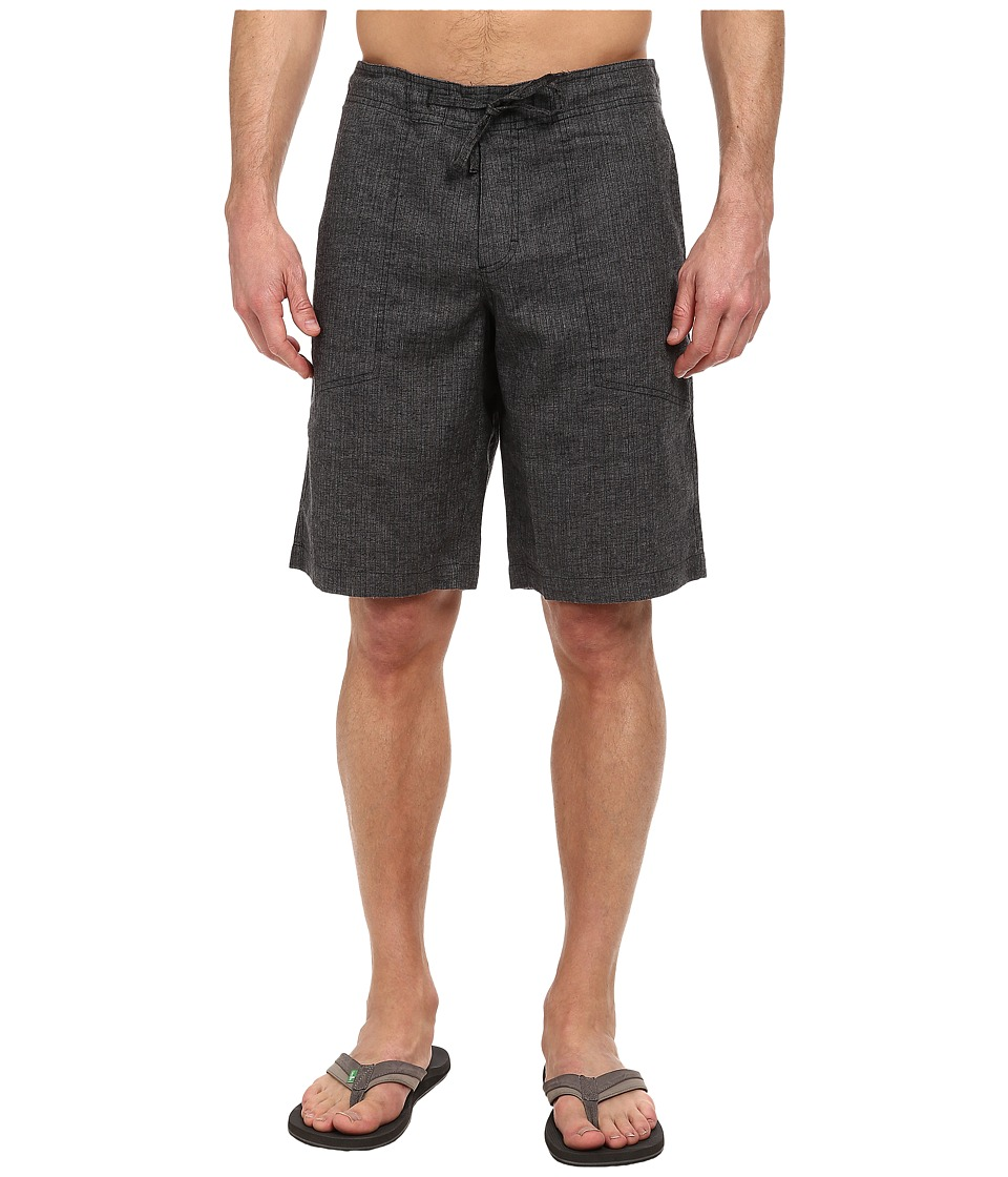 Prana Sutra Short (Black Herringbone) Men
