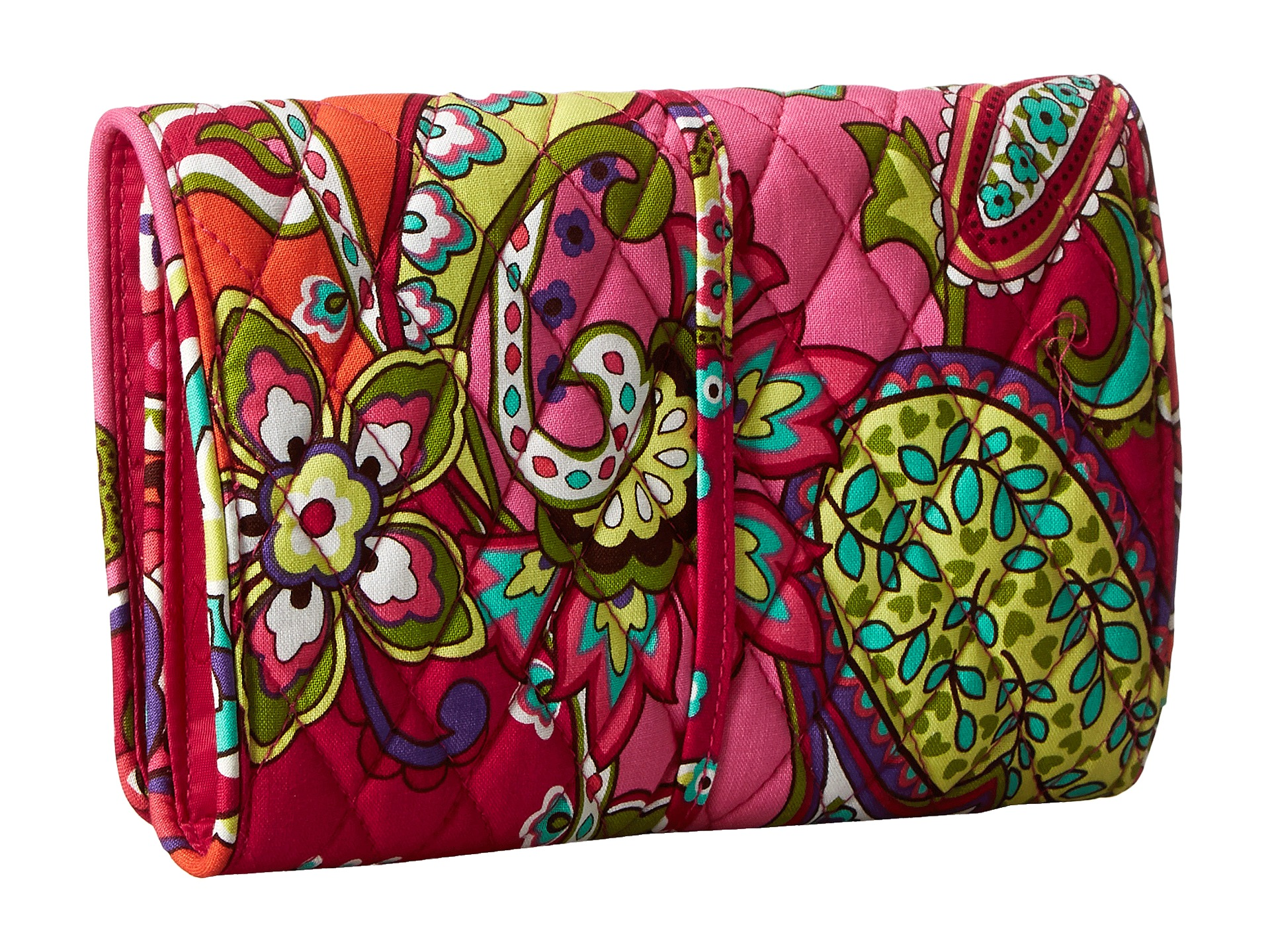 vera bradley luggage all wrapped up jewelry roll pink