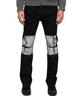 HELMUT LANG - Bar Print Black Wash Skinny Jean