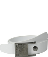 Versace Collection - Gunmetal Medusa Buckle Textured Belt