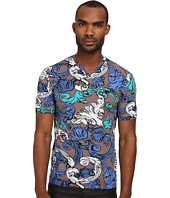 Versace Collection - Painted Baroque V-Neck Shirt