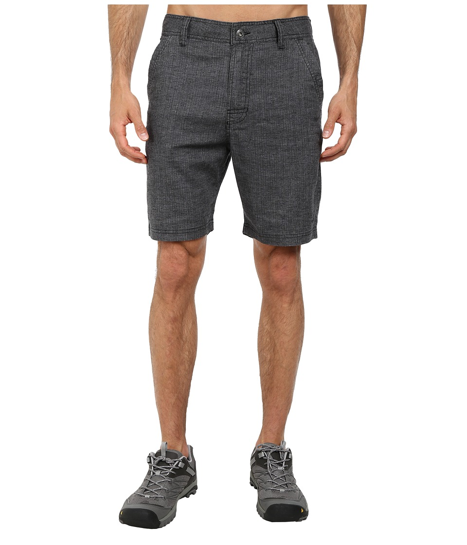 Prana Furrow Short (Black Herringbone) Men