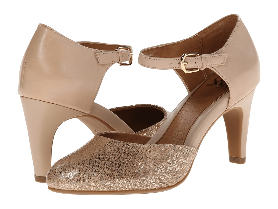 Sofft Palesa (Blush Nappa/Soft Gold Metallic) High Heels