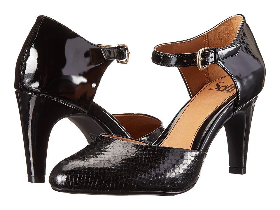 Sofft Palesa (Black Patent Snake Print) High Heels