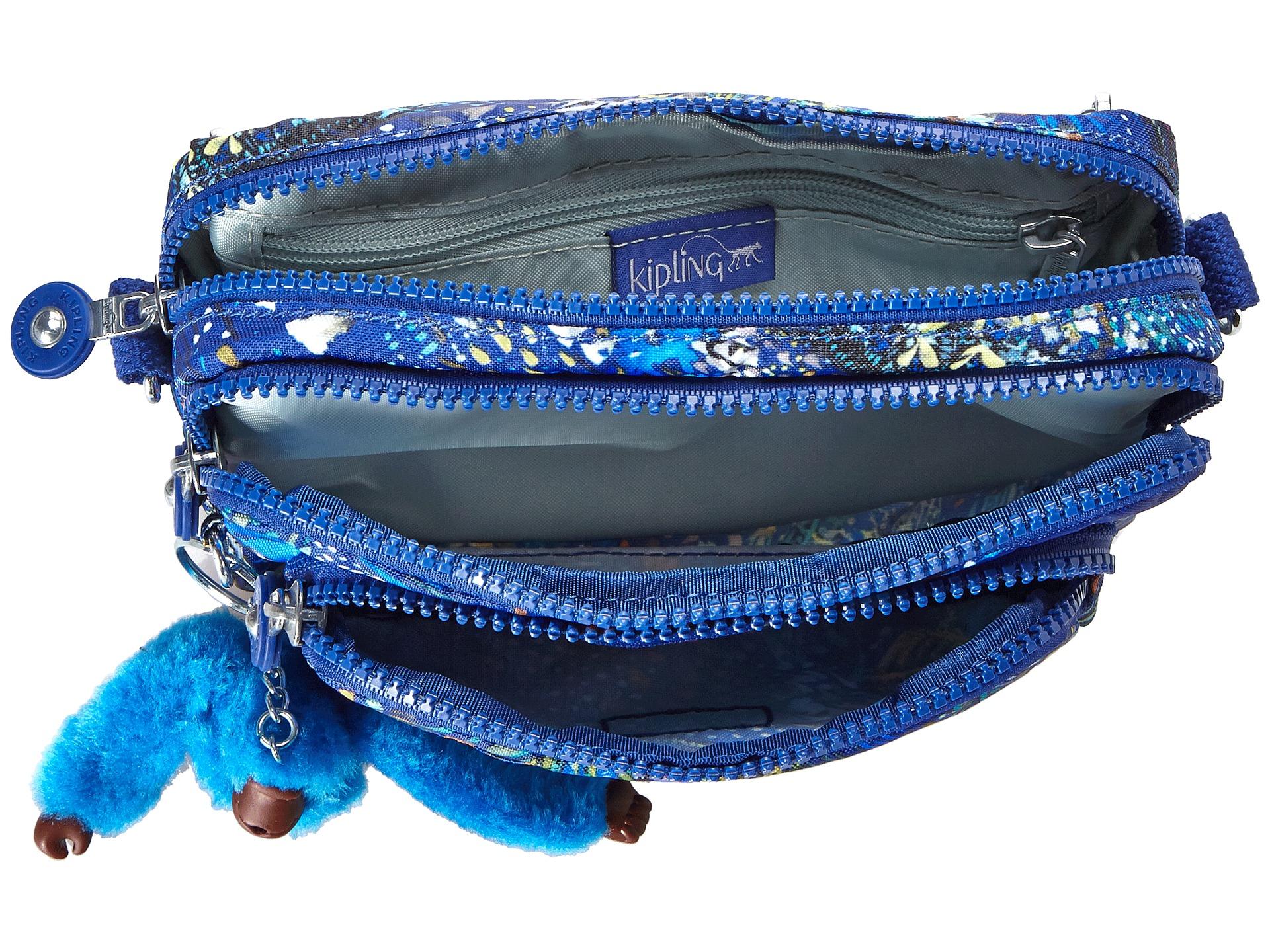 Kipling Multiple Belt Crossbody Bag Midnight Flock