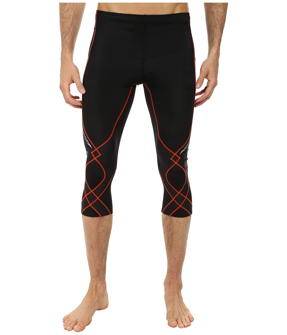 CW X 3/4 Stabilyx Tights Black/Orange Mens Workout