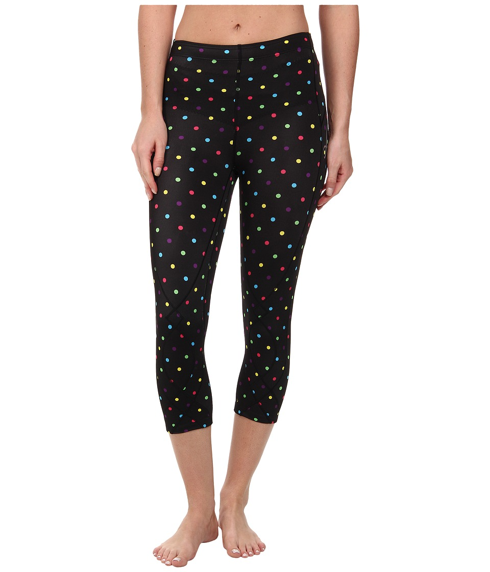 CW X 3/4 Stabilyx Tights Print Black/Polkadot Womens Workout