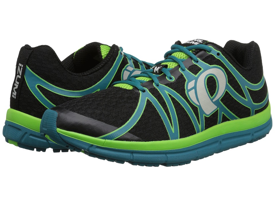 Pearl Izumi - Em Road M 2 (Black/Harbor Blue) Mens Running Shoes