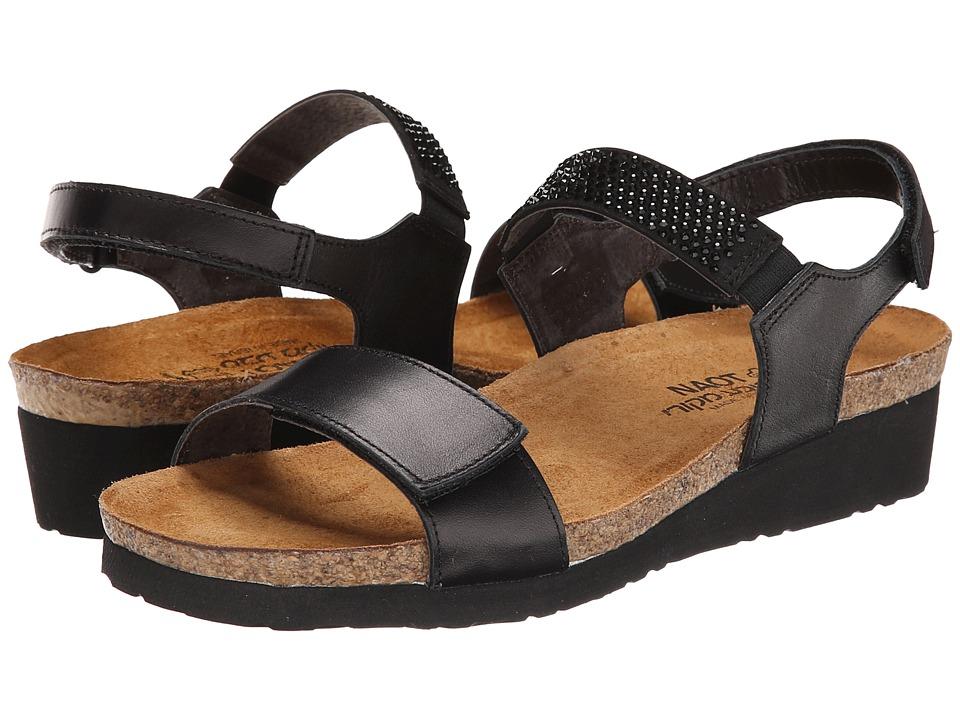 Naot Footwear - Lisa (Black Raven Leather) Women