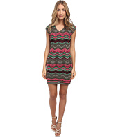 M Missoni - Multi Zig Zag Stripe V-Neck Dress