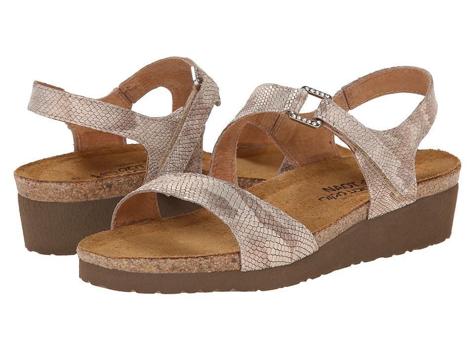 Naot Footwear Pamela (Beige Snake Leather) Sandals