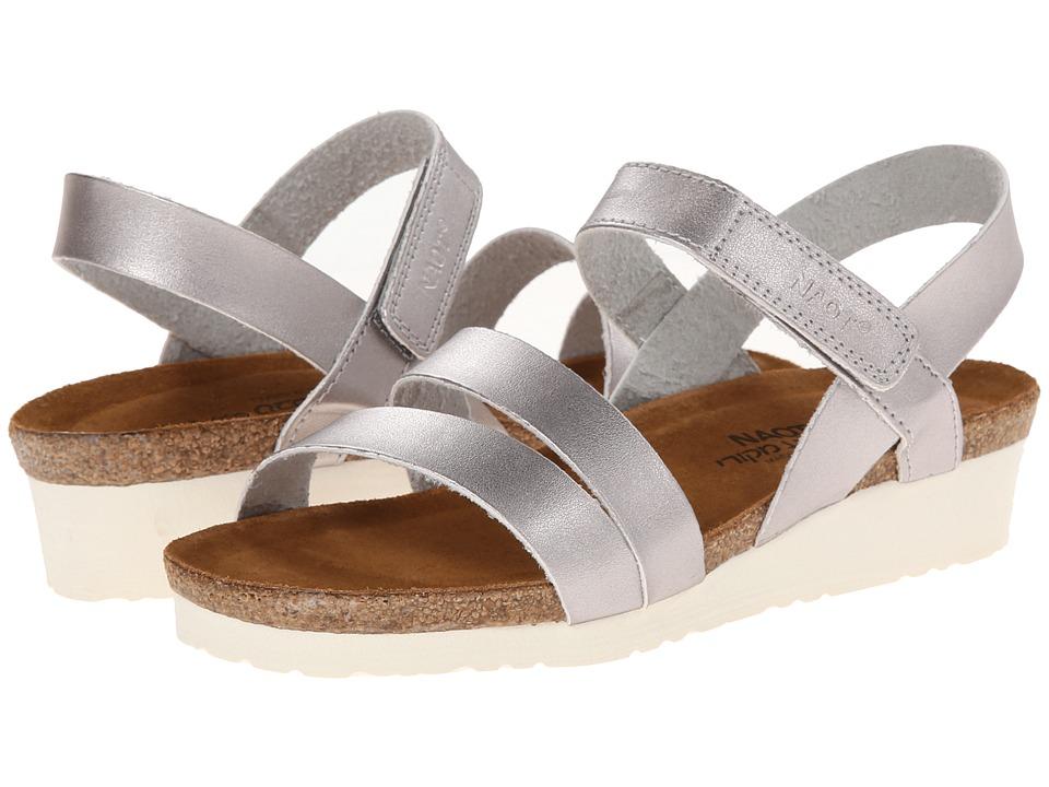Naot Footwear Kayla Shiny Silver Womens Sandals