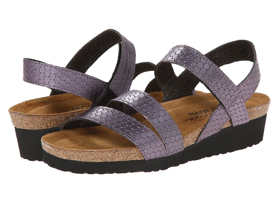Naot Footwear Kayla (Graphic Purple Leather) Sandals