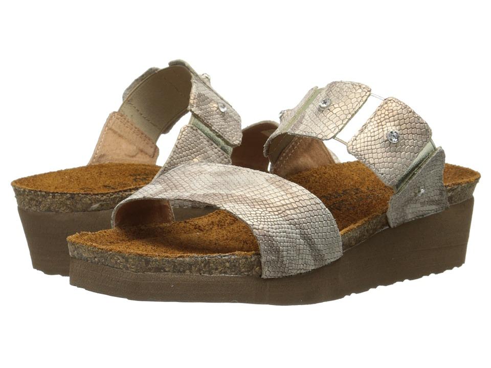 Naot Footwear Ashley (Beige Snake Leather) Sandals