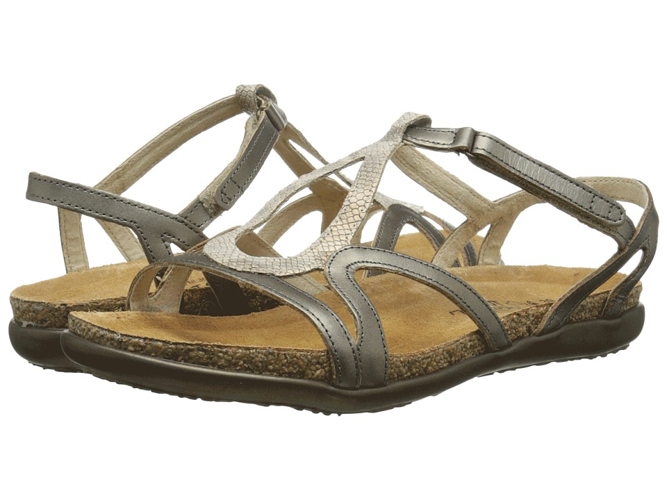 Naot Footwear Dorith (Beige Snake Leather/Pewter Leather) Sandals