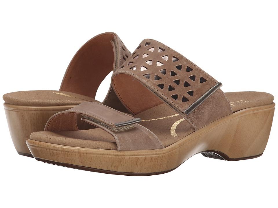Naot Footwear Moreto (Khaki Beige Leather/Glass Silver/Pewter Leather) Women