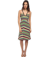 M Missoni - Vertical Geometric Stripe V-Neck Dress