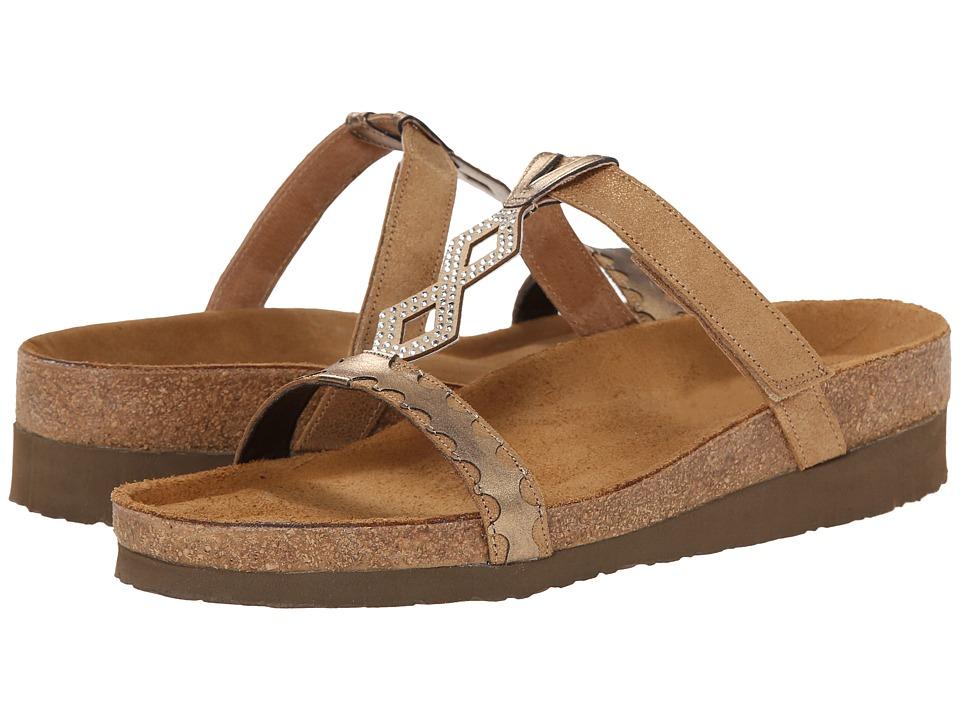 Naot Footwear - Aspen (Gold Shimmer Leather/Brass Leather) Women