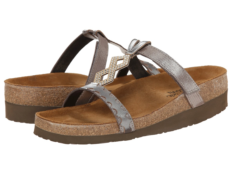 Naot Footwear Aspen Silver Threads Leather/Mirror Leather Womens Shoes