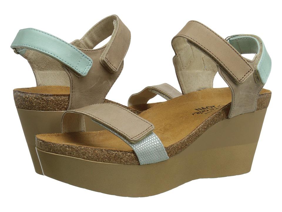 Naot Footwear - Miracle (Khaki Beige Leather/Celadon Leather/Khaki Beige Leather/Sea Pear) Women