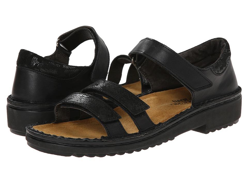 Naot Footwear - Carlotta (Black Raven Leather/Black Lace Nubuck) Women