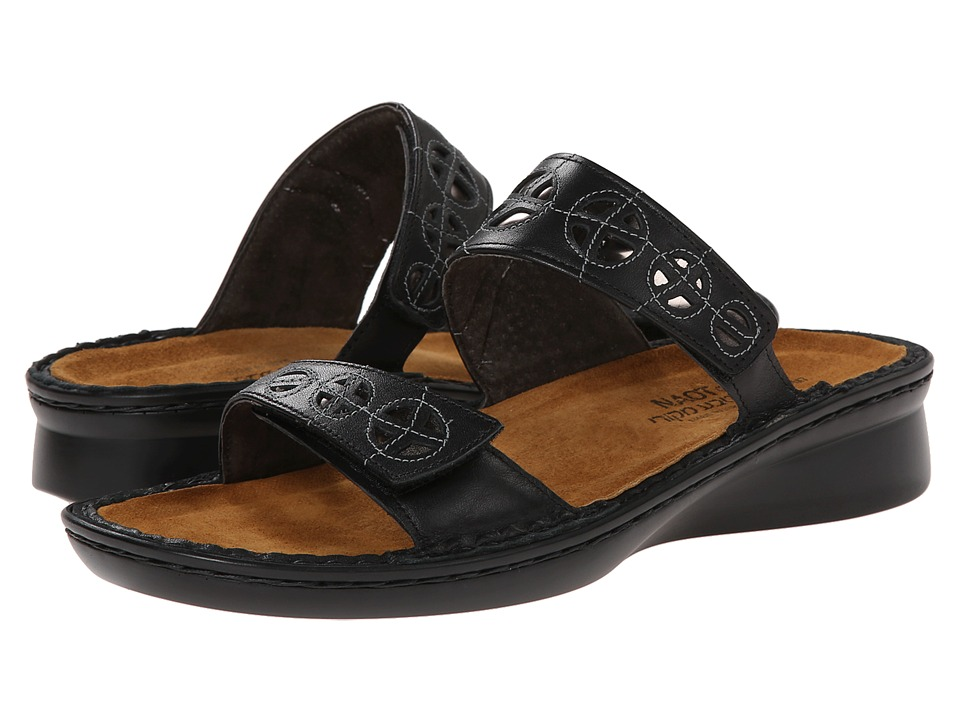 Naot Footwear - Cornet (Black Raven Leather/Glass Silver) Women