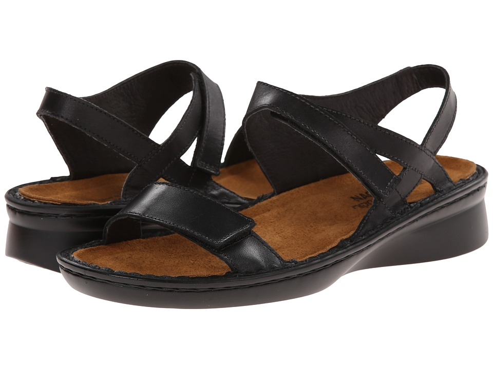 Naot Footwear - Harp (Black Raven Leather) Women