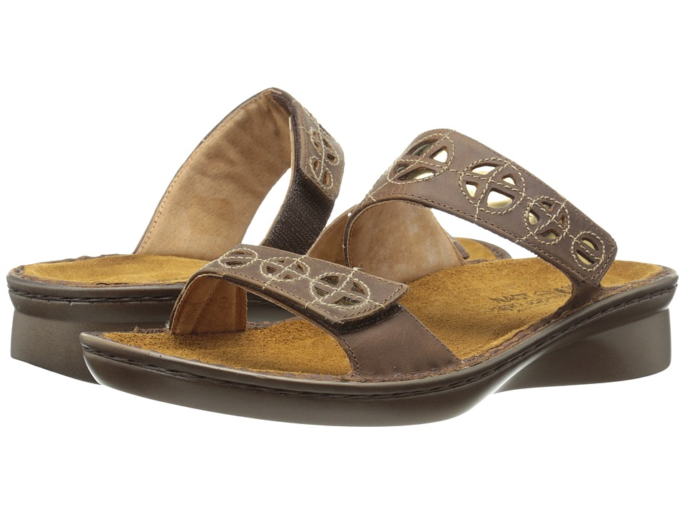 Naot Footwear Cornet Saddle Brown Leather/Glass Brown Womens Shoes