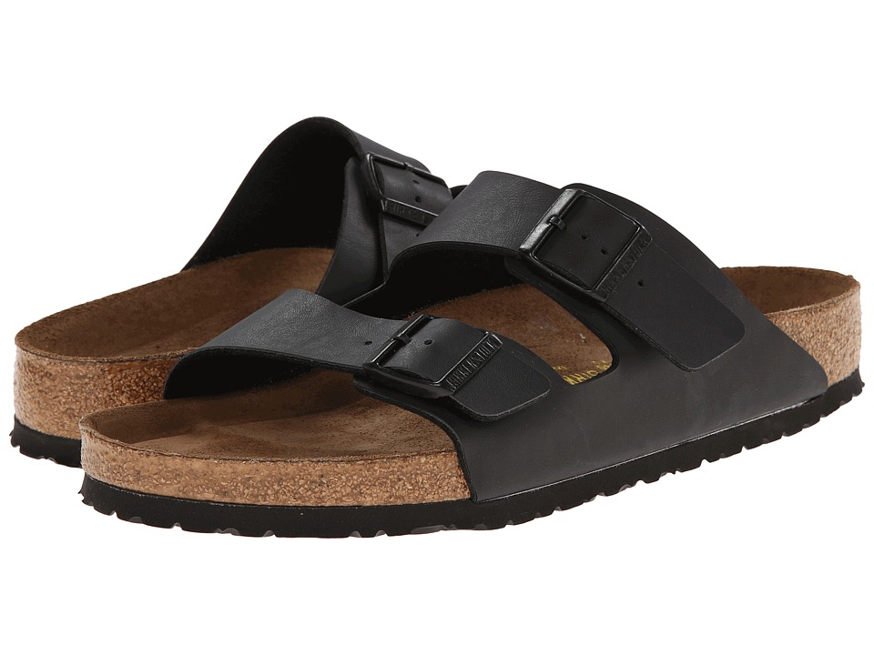 Birkenstock Arizona Soft Footbed (Black Birko-Flor ) Sandals