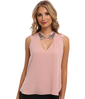 BCBGMAXAZRIA - Sofie Embellished Collar Top