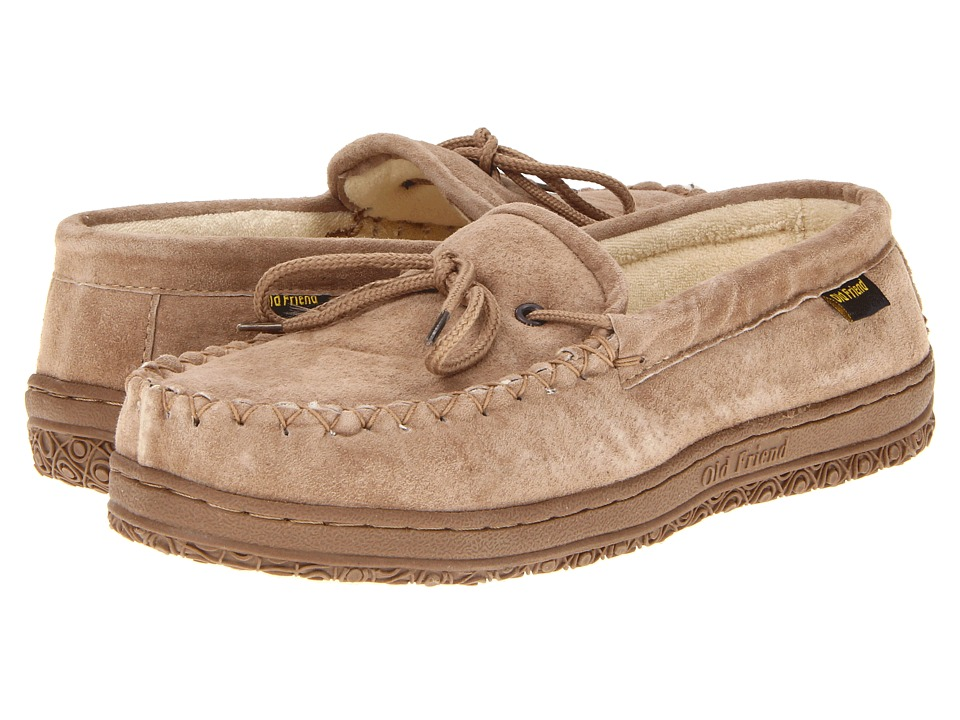 Old Friend - Cloth Lined Moccasin (Chestnut) Mens Slippers