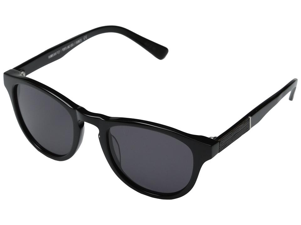 Shwood Francis Fifty Fifty Black/Ebony/Grey Fashion Sunglasses