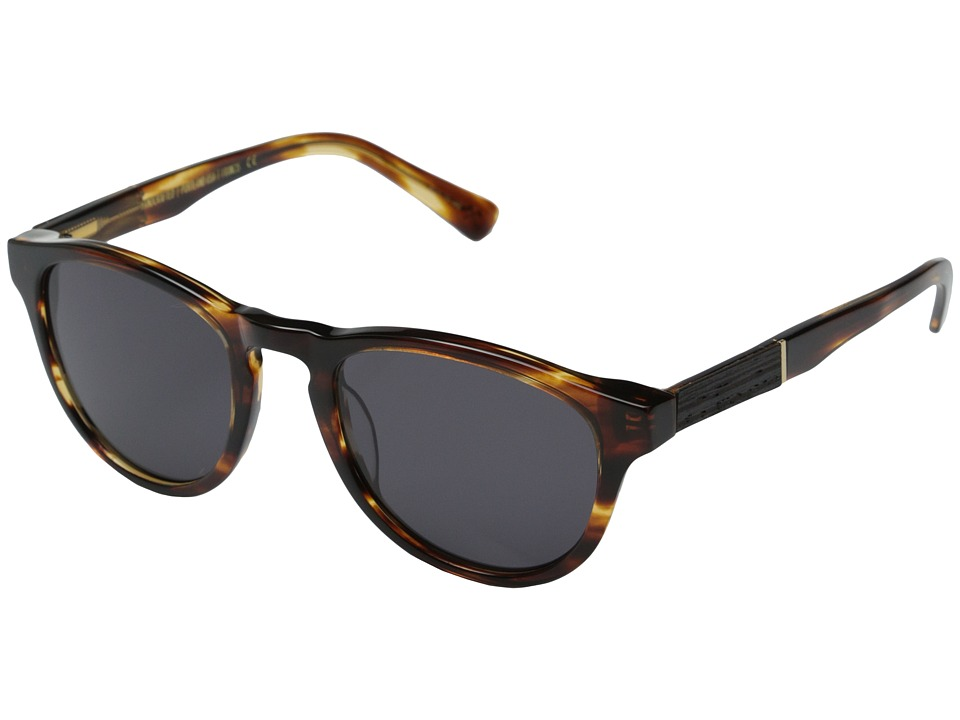 Shwood Francis Fifty Fifty Tortoise Shell/Ebony/Grey Fashion Sunglasses