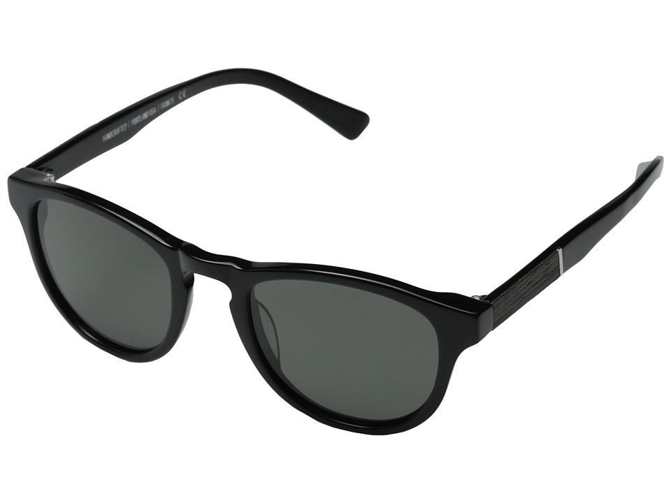 Shwood Francis Fifty Fifty Polarized Black/Ebony/Grey Polarized Fashion Sunglasses