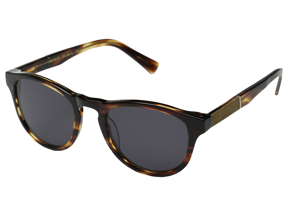 Shwood Francis Fifty Fifty Tortoise Shell/Maple Burl/Grey Fashion Sunglasses