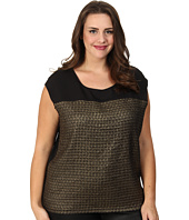 Calvin Klein Plus - Plus Size Grid Extended Shoulder Top