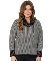 Calvin Klein Plus - Plus Size Horizontal Cowl Sweater