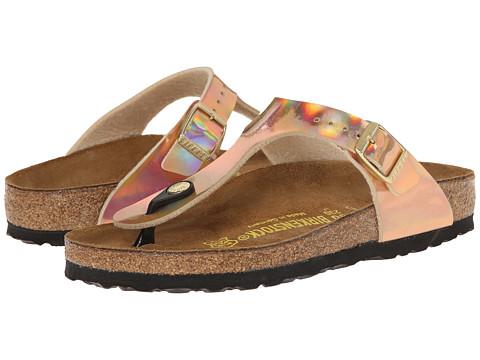 Birkenstock - Gizeh (Mirror Rose Gold Birko-Flor   ) Sandals