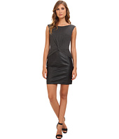 Laundry by Shelli Segal - Heather Jersey & Faux Leather Twist Dress