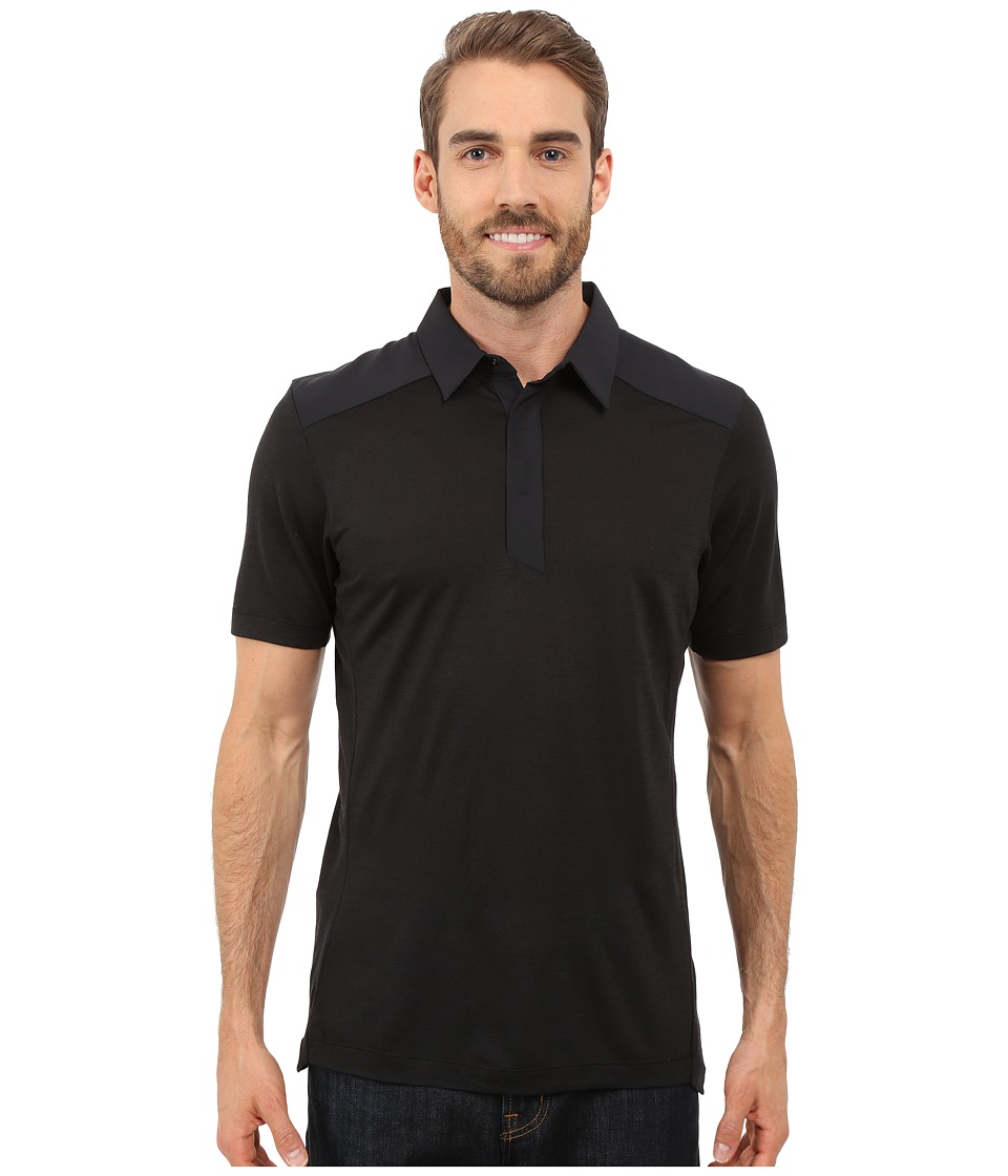 Arcteryx A2B Polo Shirt Black Mens Short Sleeve Pullover