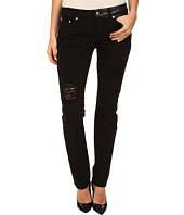 McQ - Patched Low Waist Skinny Jeans
