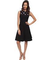 RED VALENTINO - Stetch Cotton and Macro Polka Dots Dress