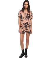 RED VALENTINO - Tattoo Print Silk Muslin Dress